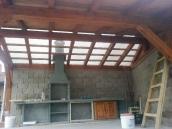 Počaply stavba pergoly 010